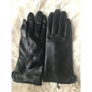 Genuine leather gloves by H&M